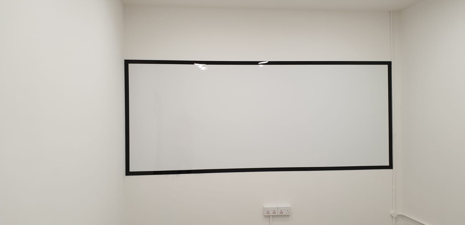 Whiteboard with frame