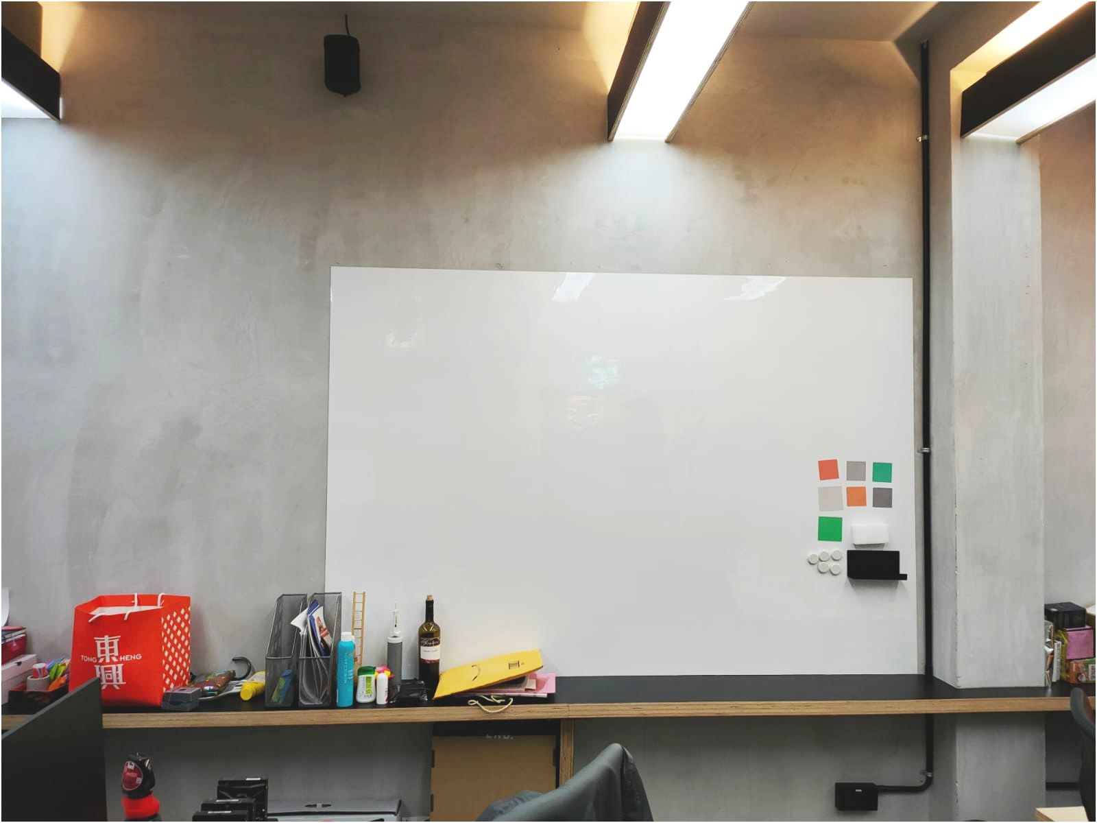Visual Magnetic Whiteboard at Office