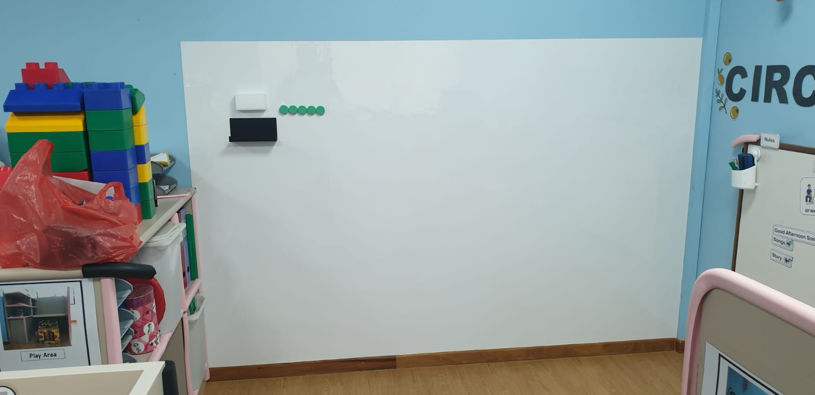 Premium magnetic whiteboard at THK EIPIC CENTRE
