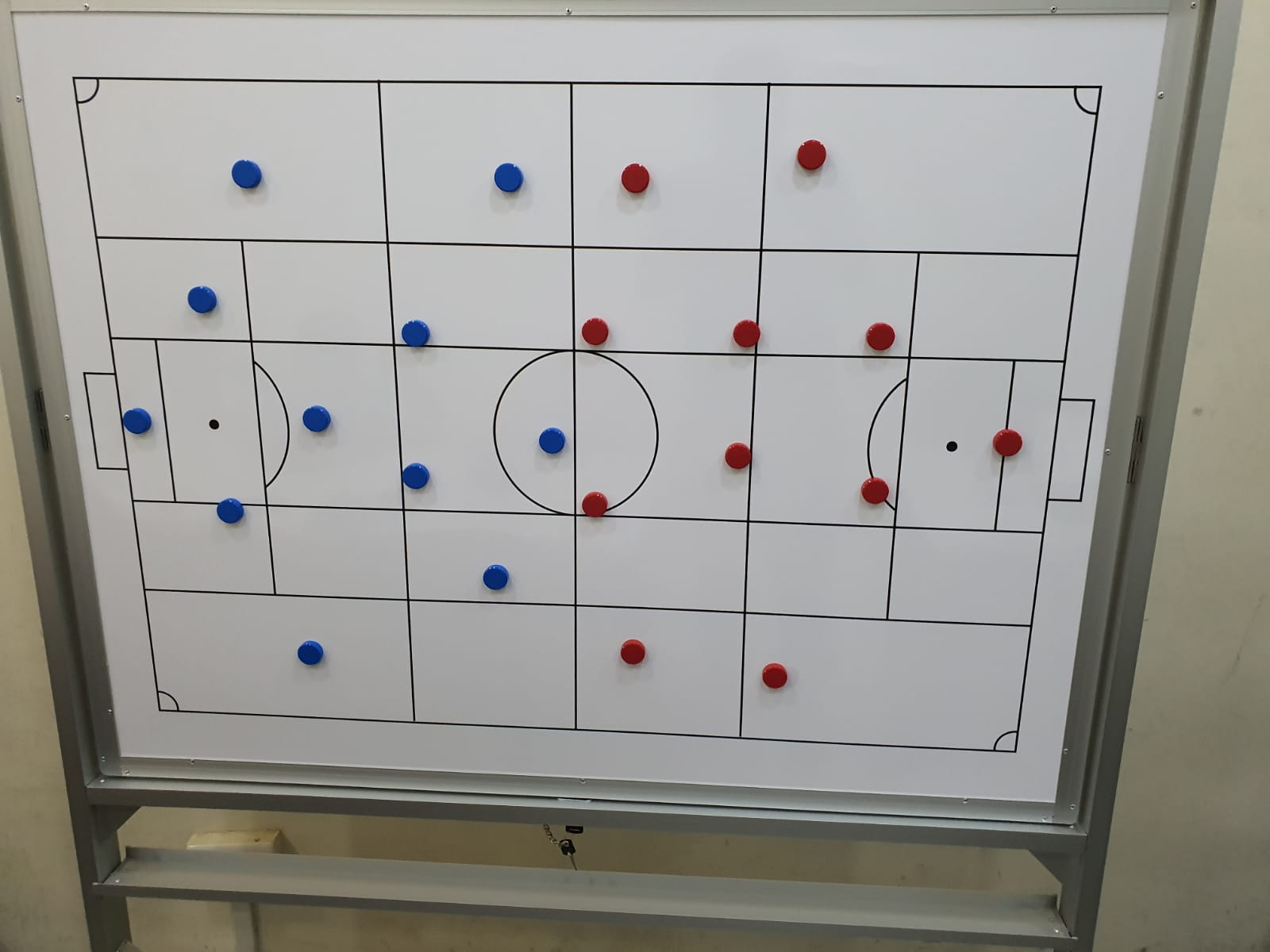 Magnetic Mobile Whiteboard with print for Football Club